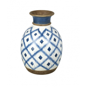 Parlane Mykinos Blue & White Large Ceramic Vase