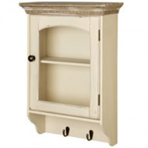 Country Glazed Wall Unit With Hooks