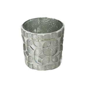 Parlane Silver Glass Mosaic Tealight Holders - Set of 5