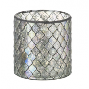 Parlane Pearlescent Harlequin Glass Tealight Holder