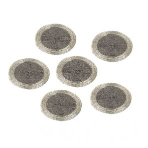 Silver Acrylic Beads Coaster Set (Pack of 6)