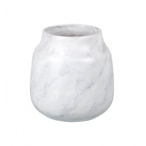 Parlane Marbled Ceramic Vase (White & Grey)