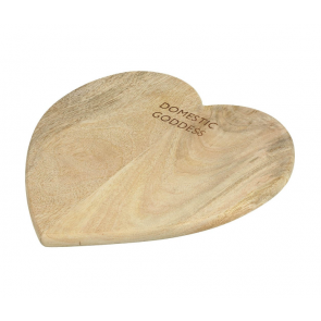 Parlane Wooden Heart Board - Domestic Goddess