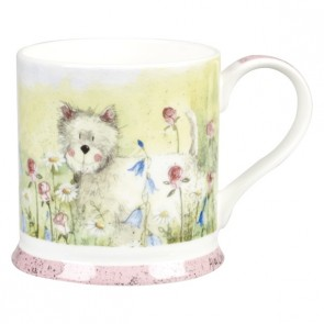 Westie Dog Fine China Mug by Alex Clark