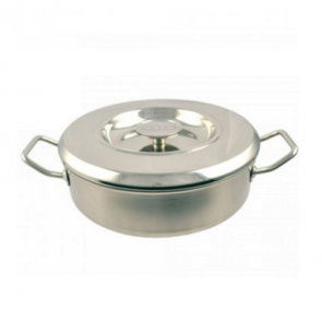 New AGA Stainless Steel Saute Pan - 24cm diameter, 3 Litre capacity