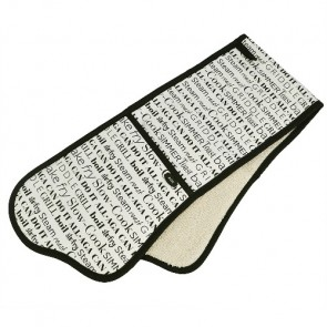 AGA Script Double Oven Glove In Cream