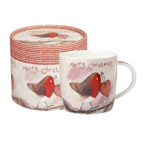 Christmas Robin Mug - Merry Christmas China Cup