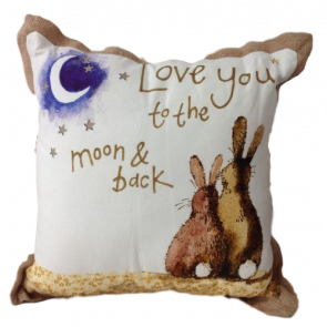 Alex Clark 'Love you to the Moon & back' filled cushion