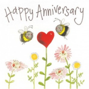 Alex Clark Happy Anniversary Large Sparkle Card