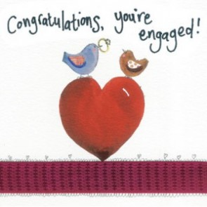 Alex Clark Congratulations, You're Engaged Large Sparkle Card