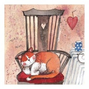 Alex Clark Cat Chair Mini Print