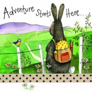 Adventure Starts Here Coaster - Alex Clark