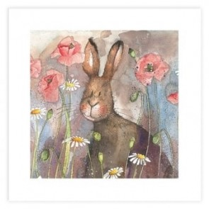 Alex Clark Hare and Poppies Print
