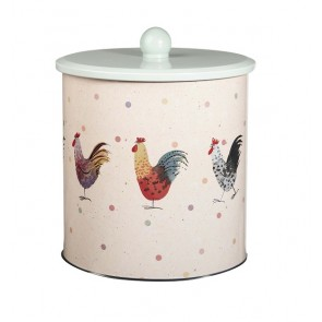 Alex Clark Rooster Biscuit Barrel - Cookie Storage Tin