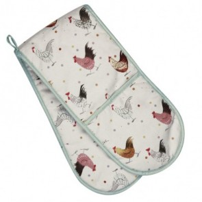 Alex Clark Rooster Double Oven Glove