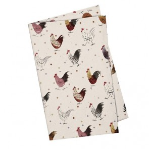 Alex Clark Rooster Tea towels - Set of 2