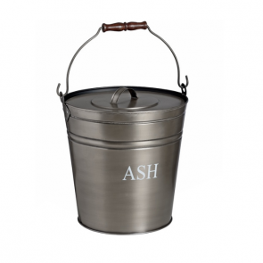 Antique Pewter Ash Bucket with lid