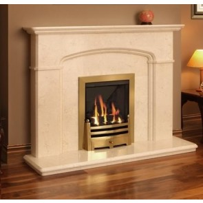 Cambridge Fireplace in Egyptian Creme Marble