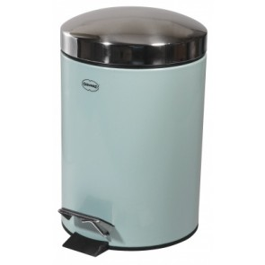 3 Litre Foot Operated Pedal Bin in Artic Blue & Stainless Steel