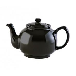 Black 6 Cup Stoneware Teapot
