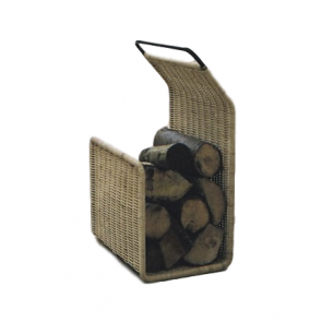 Bodj G Holder - Contemporary Woven Rattan Log Holder