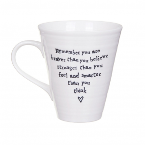 Braver than you think Porcelain mug