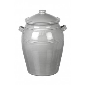Miel ceramic bread crock in grey. Handmade in Portugal for Parlane.