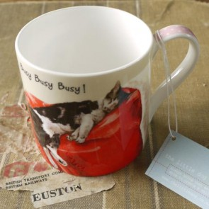 The Little Dog Busy Cat Mug