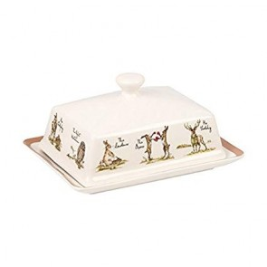 Country pursuits butter dish