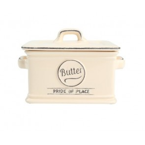Ceramic old cream butter dish - Pride of Place