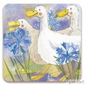 Three Ducks drinks coaster by Alex Clark