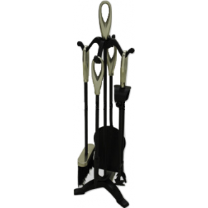 Black & Satin Nickel Loop Top Companion Set