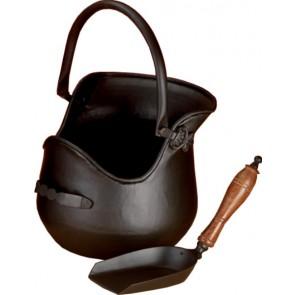 All Black Plealey Coal Bucket & Shovel