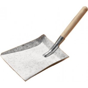 Galvanised shovel
