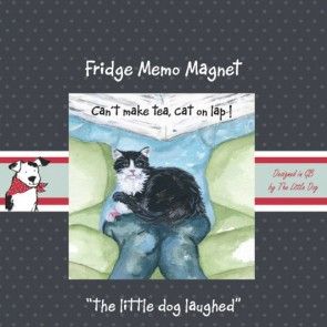 The Little Dog Lap Cat Fridge Magnet