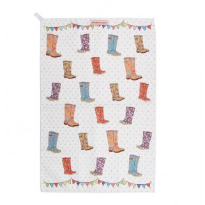 Festival Wellies Teatowel - The Caravan Trail