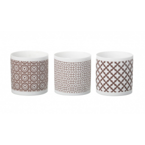Clifton Brown ceramic tea lights