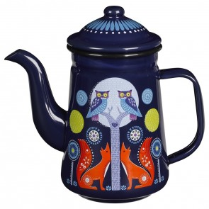 Blue Enamelled Coffee Pot