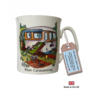 Bean Caravanning China Mug