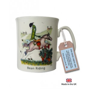 Bean Riding China Mug - Horse mug