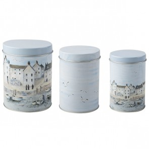 Set of 3 Cornish Harbor Nesting Tins by Creative Tops.