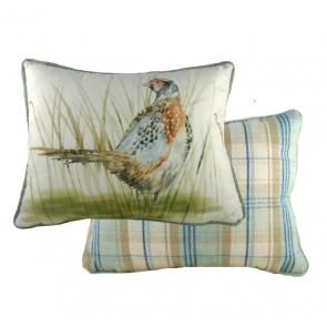 Country Phesant Blue Cushion