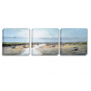 The Creek Triptych set of 3 canvas prints by artist Michael Sanders
