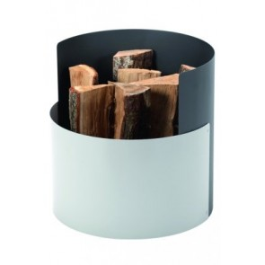 Dixneuf Crocus Log Holder - Grey & Aluminium contrast