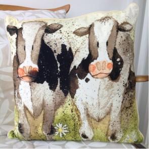 Alex Clark Curious Cows Cushion - 45cm x 45cm