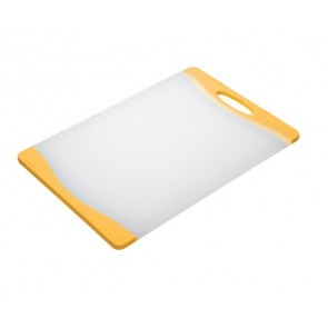 Yellow Rimmed Chopping Board - Poultry