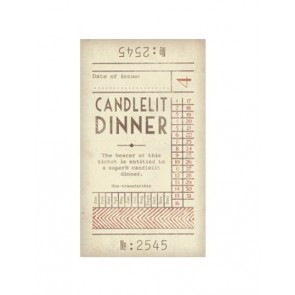 Candle Lit Dinner Promise Ticket - IOU