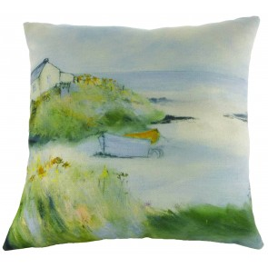 Sue Fenlon Morning Light Cushion - Boat on Estuary
