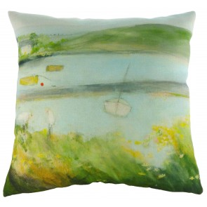 Sue Fenlon 'Two Seagulls' Cushion - Estuary Scenery