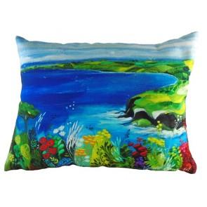 Escape to the Sea print cushion by Natalie Rymer - 43cm x 33cm